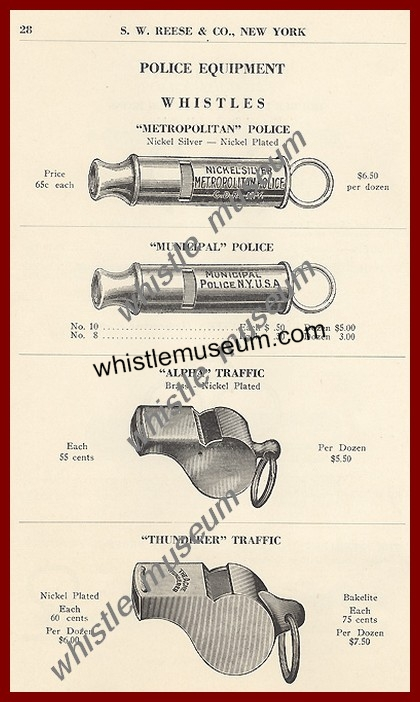 whistle_Museum,_1923_S_W_REESE___CO_CATALOG,_POLICE_Whistles A.Strauss Article
