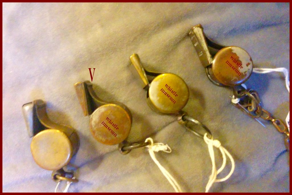 Alfred DeCourcy button style railway whistles 1880's 90's