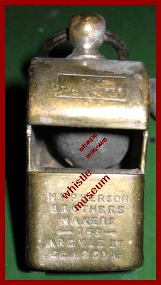 Black & Co. for McPherson 166 ARgyle St Glasgow whistle museum