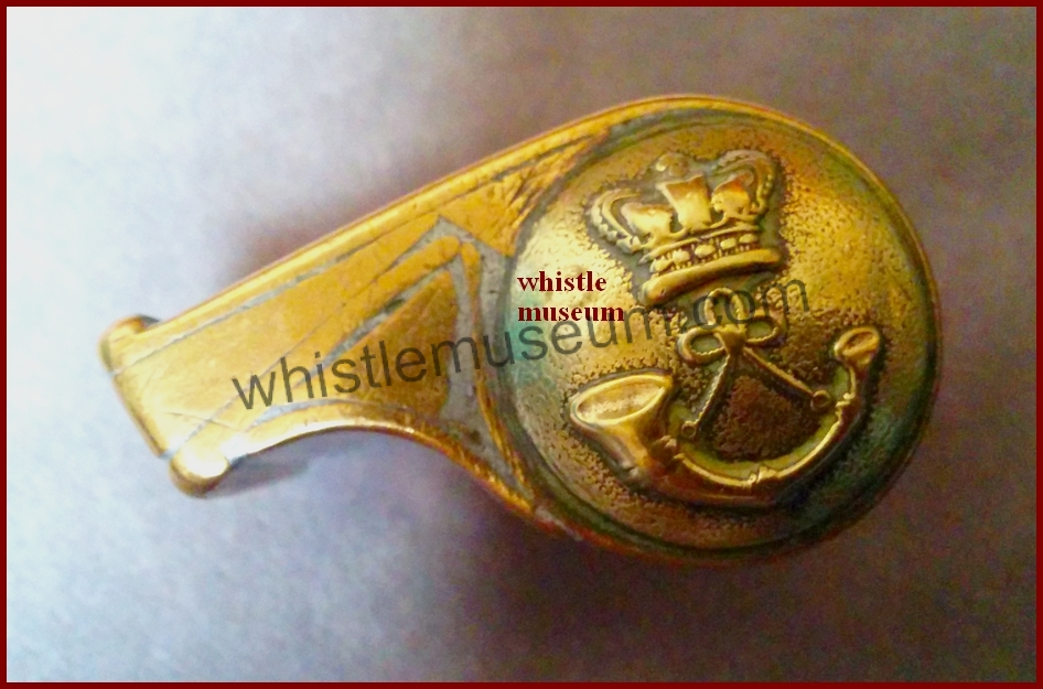Button whistle sides Cast frame glasgow type snail whistle whistle museum jpg