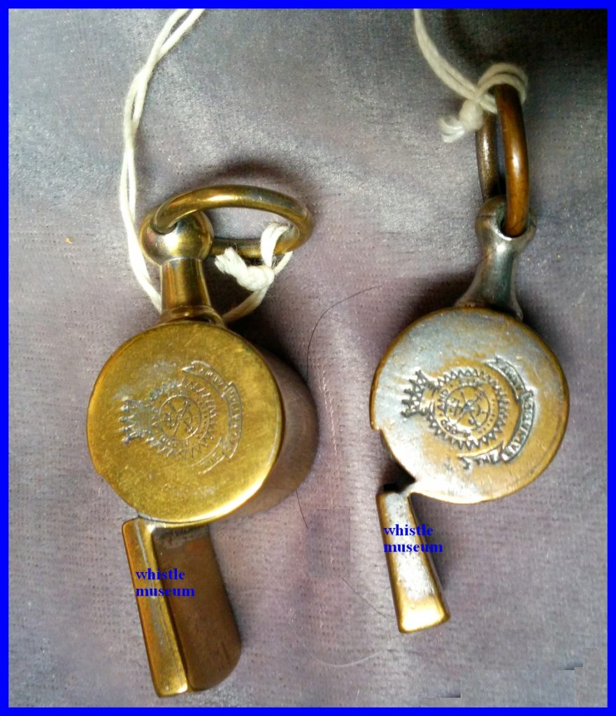 Jon Barrall Two Salvation Army Snail whistles whistle museum Strauss Collection