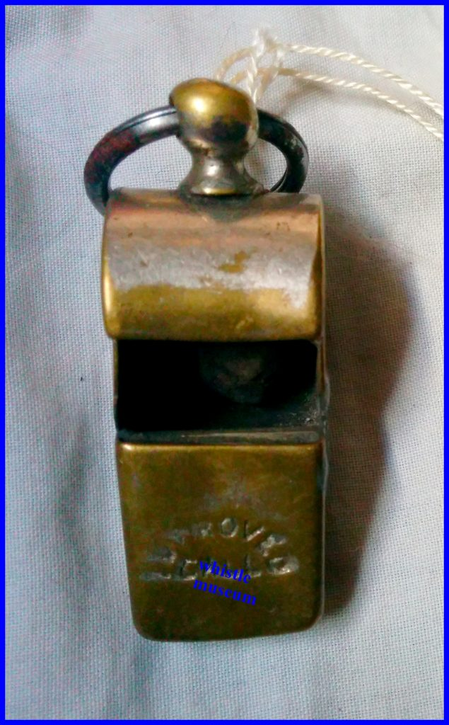 McDonald Glasgow whistle maker, Improved Call Late 1880's whistle museum