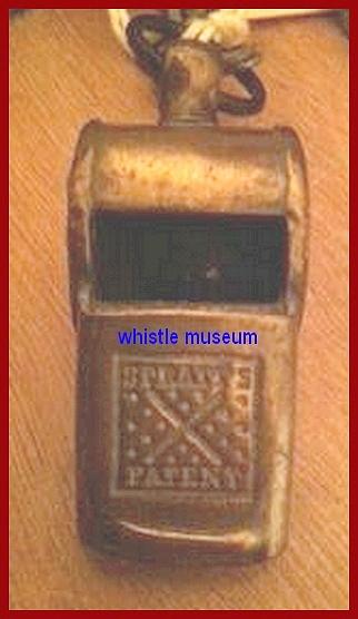 Spratt Patent escargot on a J.Hudson whistle whistle museum