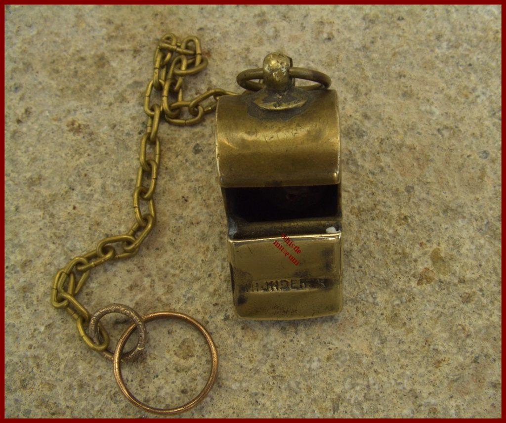 whistle Thunderer 1880s whistle museum