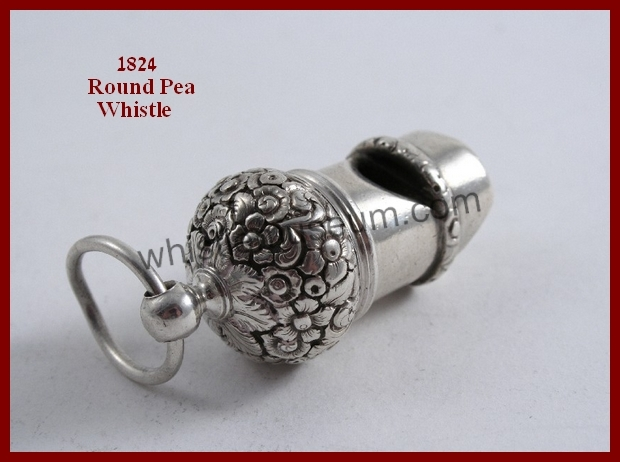 1824 John Reily, London 5 cm Round Pea Whistle