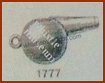 Hawksley Model 1777 shoet Boatswain's whistle 1889 catalogue whistle museum